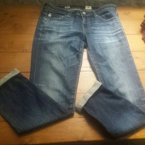 AG Adriano Goldscmeid Stilt Roll-up Jeans Like New